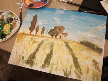 Experimental workshop – impressionist painting