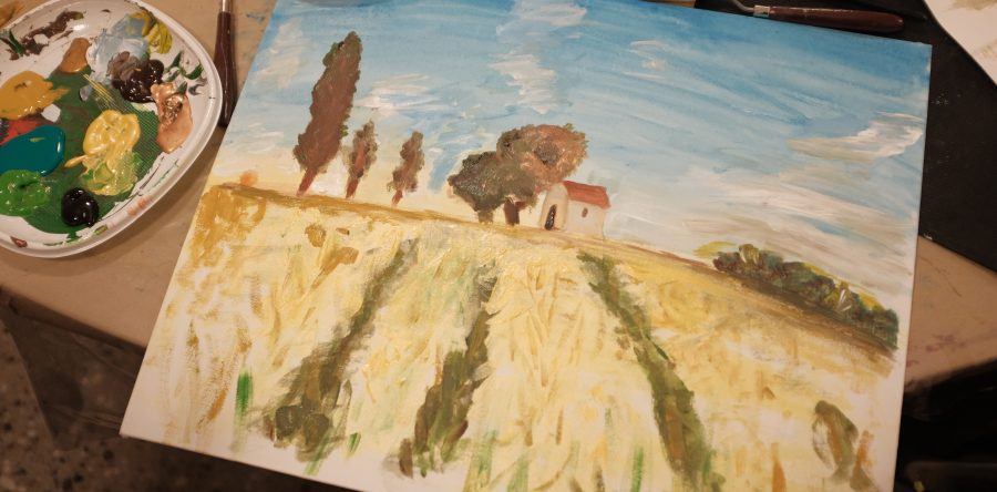 Experimental workshop – impressionist painting