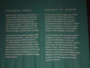 Ekológia túžby, výstava finalistov Ceny Oskára Čepana