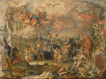 Alegorický pohreb uhorského panovníka